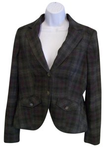 Rachel Roy Grey Plaid Blazer