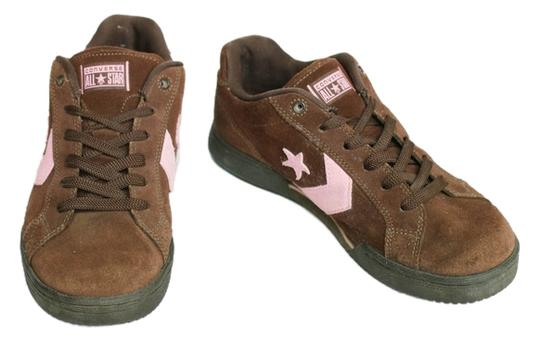 Converse Vintage Leather All Star Brown Suede with Pink Accents Athletic