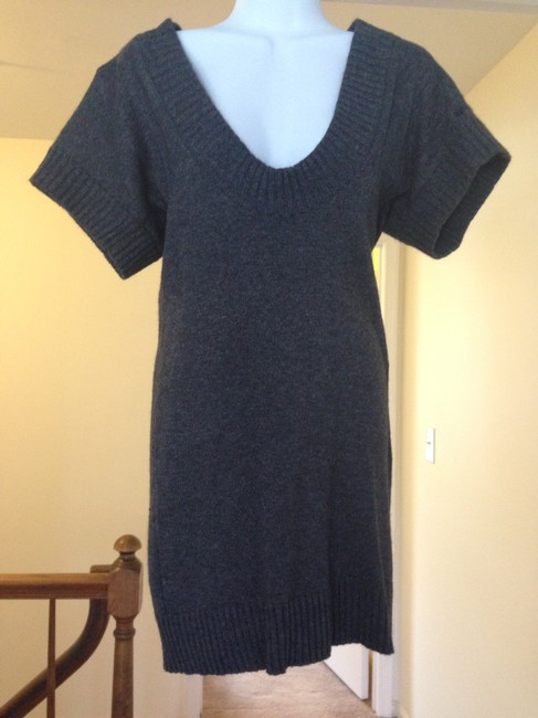 Preload https://item1.tradesy.com/images/charcoal-sweater-above-knee-short-casual-dress-size-2-xs-1446480-0-0.jpg?width=400&height=650