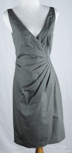 J.Crew 0 Ramona Cotton Taffeta Pleated Dark Pewter Dress