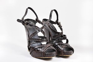 Givenchy Embossed Brown Sandals