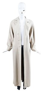Max Mara Soft Modal Blend Twill Long Maxi Buttoned Collared Coat
