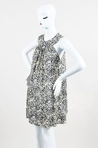 Jenni Kayne short dress Multi-Color White Black Silk on Tradesy