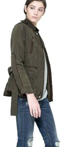 Zara Field Utility Army Quilted Military Jacket