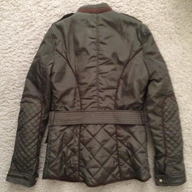 Zara Military Field Utility Army Quilted Jacket
