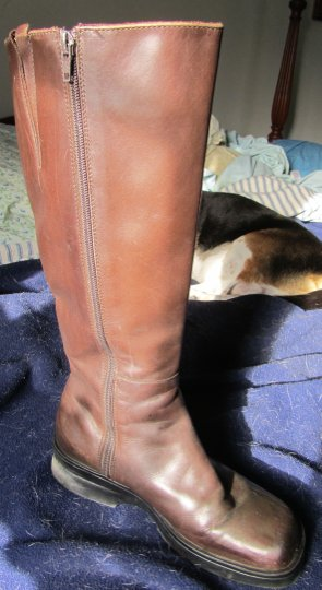 L.L.Bean Inch High All Dark Brown Leather Boots