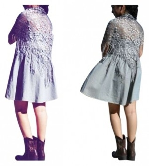 Preload https://item3.tradesy.com/images/grey-silver-triangle-lace-shawl-scarfwrap-144662-0-0.jpg?width=440&height=440