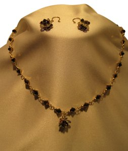 Dark Gold Crystal Jewelry Suite - [ Roxanne Anjou Closet ]