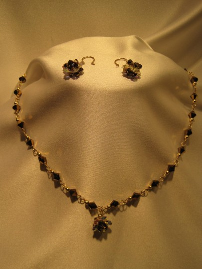 Other Dark Gold Crystal Jewelry Suite - [ Roxanne Anjou Closet ]