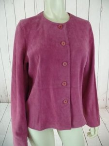 Eileen Fisher Eileen Fisher Petite Jacket Coat Pm Pink Goat Suede Unlined Button Front Chic