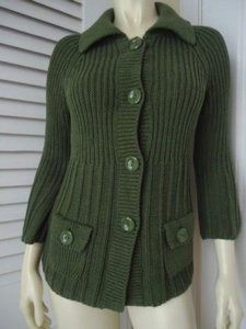 Ann Taylor Boho Cardigan Multi Knit 34 Bell Sleeves Chic Sweater