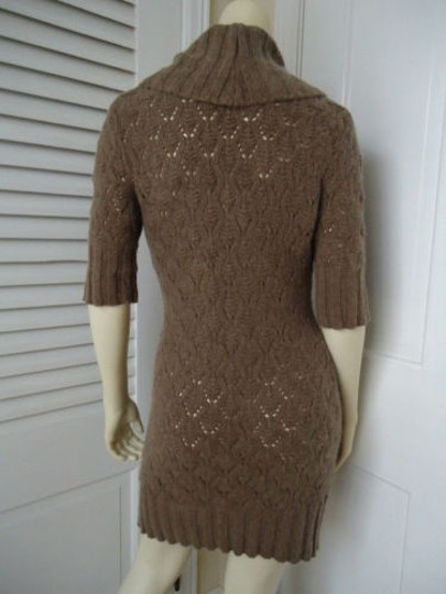 431892211b7 Cynthia Rowley Dress Knit Sweater Body Hugging Taupe Sheath Cowl Neck  durable modeling