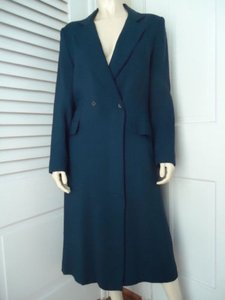 Other Luba Coat Blazer 1112 Vintage Long Viscose Rayon Double Breasted Chic Navy Blue Jacket