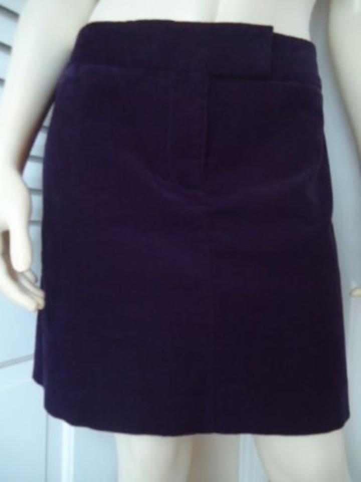 de4afb495c J.Crew Crew Corduroy Side Back Pockets Unlined Front Zip Hot Mini Skirt  Purple Image ...