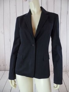 Elie Tahari Elie Tahari Blazer Black Cotton Nylon Stretch Wo Tags Pin Stripe Fitted