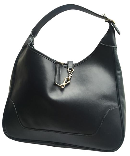 Item - Trim 31cm Navy Blue Hobo Bag