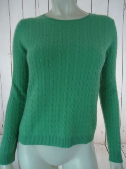 Preload https://img-static.tradesy.com/item/14466949/whitney-tremaine-cashmere-sweater-light-green-pullover-cable-knit-soft-chic-0-0-650-650.jpg