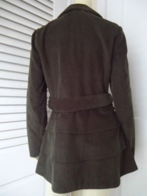 Cynthia Rowley Blazer Long Corduroy Button Front Faux Belt Lined Chic Coat Image 3