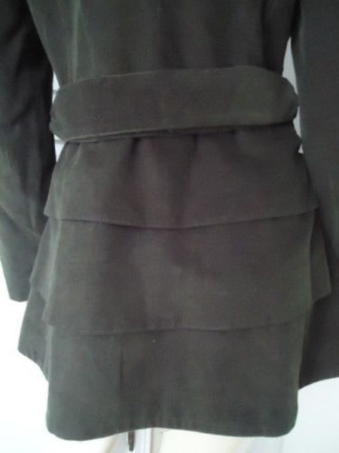 Cynthia Rowley Blazer Long Corduroy Button Front Faux Belt Lined Chic Coat Image 4