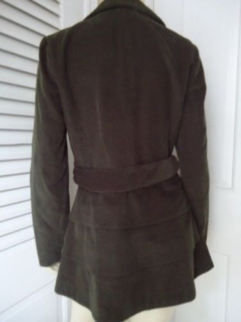 Cynthia Rowley Blazer Long Corduroy Button Front Faux Belt Lined Chic Coat Image 5