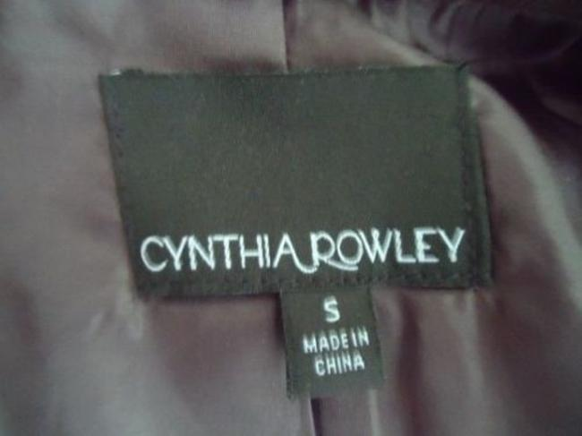Cynthia Rowley Blazer Long Corduroy Button Front Faux Belt Lined Chic Coat Image 6