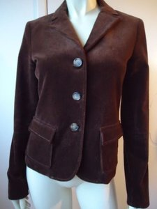 Theory Theory Blazer Brown Stretch Corduroy Classic Cut Lined Button Front Chic
