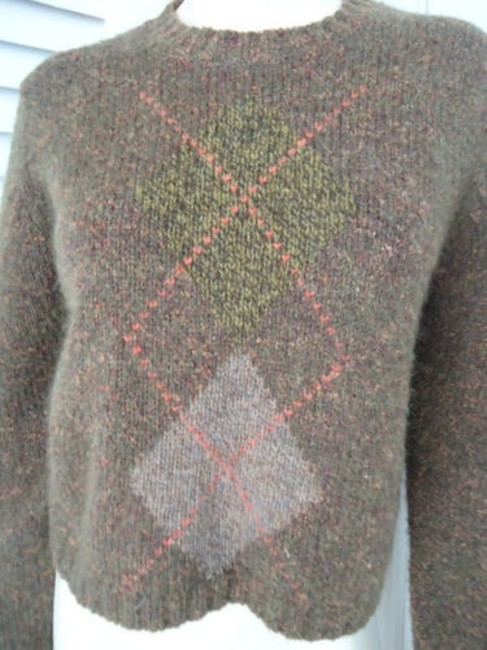 Banana Republic Wool Mohair Blend Crop Crewneck Argyle Sweater Image 3