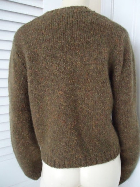 Banana Republic Wool Mohair Blend Crop Crewneck Argyle Sweater Image 4