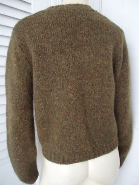 Banana Republic Wool Mohair Blend Crop Crewneck Argyle Sweater Image 5