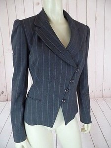 Carlisle Lt Pinstripe Wool Silk Elastane Blend New Gray Heather, Light Blue Jacket