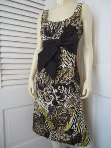 Kay Unger Ny Silk Blend Retro 50s 60s Big Bow Sheath Lined Chic Dress