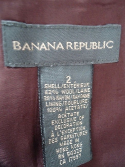 Banana Republic Straight Wool Blend Floral Embroidered Lined Skirt Reddish Auburn Brown Image 7