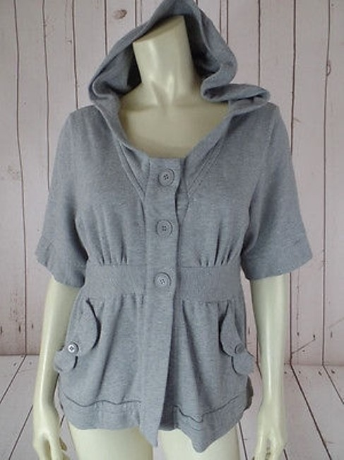 Preload https://img-static.tradesy.com/item/14467216/bcbg-generation-sweat-jacket-top-gray-heather-cotton-poly-short-sleeve-comfy-0-0-650-650.jpg
