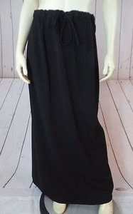 Talbots Stretch Poly Rayon Spandex Knit Long Straight Comfy Chic Skirt Black