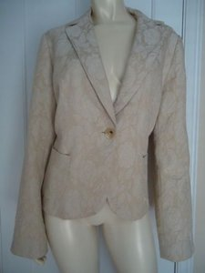 Banana Republic Blazer Wool Blend Sparkly Floral Lined Metallics Jacket