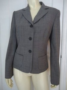 Ann Taylor Ann Taylor Stretch Wool Fitted Blazer Jacket Lined Button Front Pockets Classy