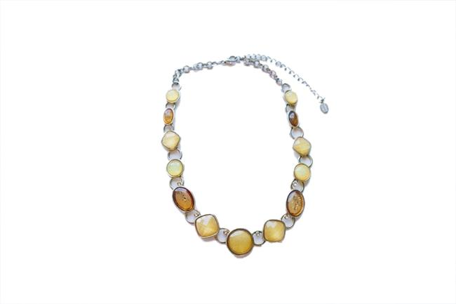 Item - Amber & Brown Beaded Choker Necklace