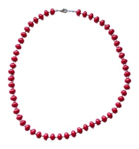 Other Red & Silver Beaded Costume Necklace
