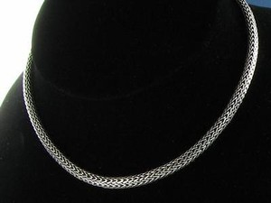 John Hardy John Hardy Oval Chain Necklace 7.45mm X 5mm Sterling Silver 16 Estate