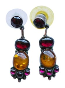 Other Amber & Purple Drop Earrings