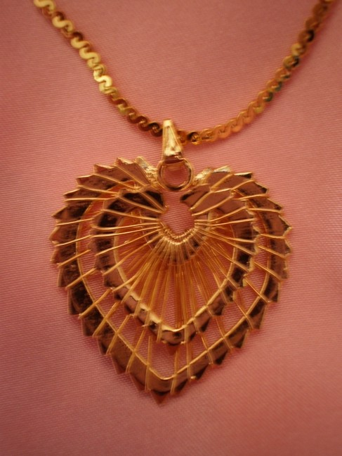 Gold Like New Heart Necklace Gold Like New Heart Necklace Image 1