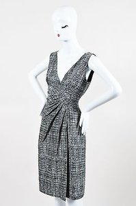 Valentino short dress Gray Black White Knit on Tradesy