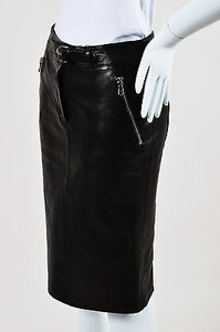 Dolce&Gabbana Dolce Gabbana Leather Skirt Black