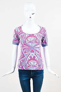 Emilio Pucci Pink Purple And T Shirt Multi-Color