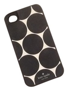 Kate Spade Kate Spade iPhone 4/4S case - Silicone - Black and White Polka Dot