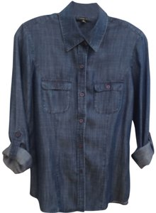 Nordstrom Button Down Shirt Denim blue