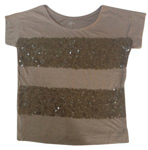 Ann Taylor LOFT T Shirt Brown