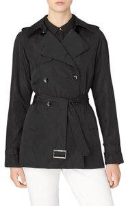 Calvin Klein Trech Jacket Rain Wind Weather Cold Water-resistant Perforated Double Breatsed Belted Mesh Epolets Women Ladies Chic Trench Coat