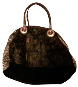 Borbonese Embellished Chic Vintage Satchel in multi- color