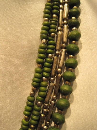 Other Silver & Wood Bead Necklace - [ Roxanne Anjou Closet ]